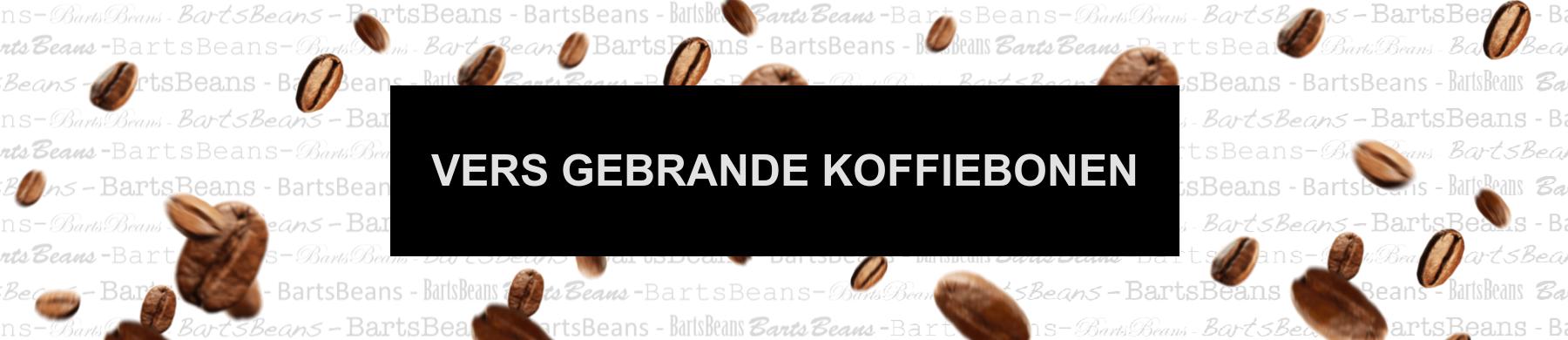 Vers gebrande koffiebonen banner